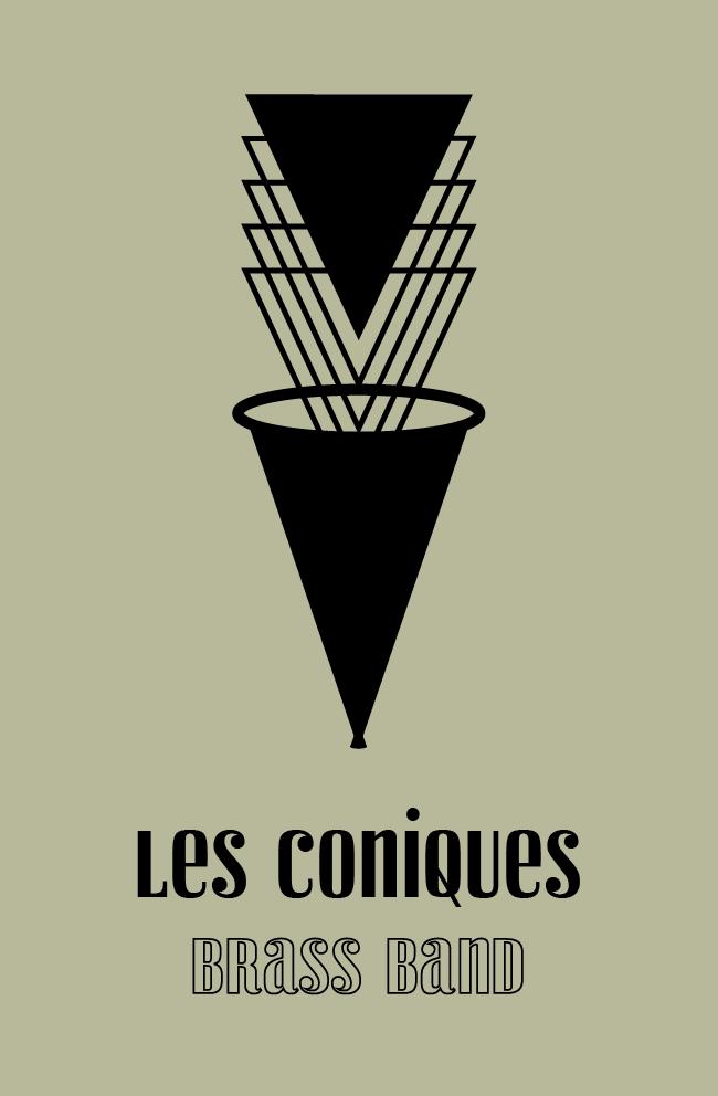 Recto carte de visite Les Coniques Brass Band