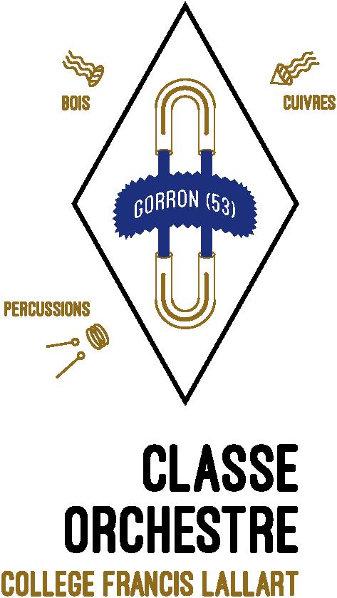 Logo classe-orchestre Collège Francis Lallart (Gorron, 53)