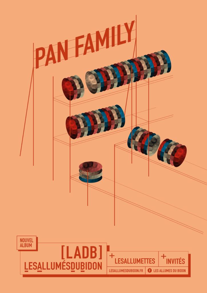 Affiche sortie album PAN Family - LADB Steelbanda