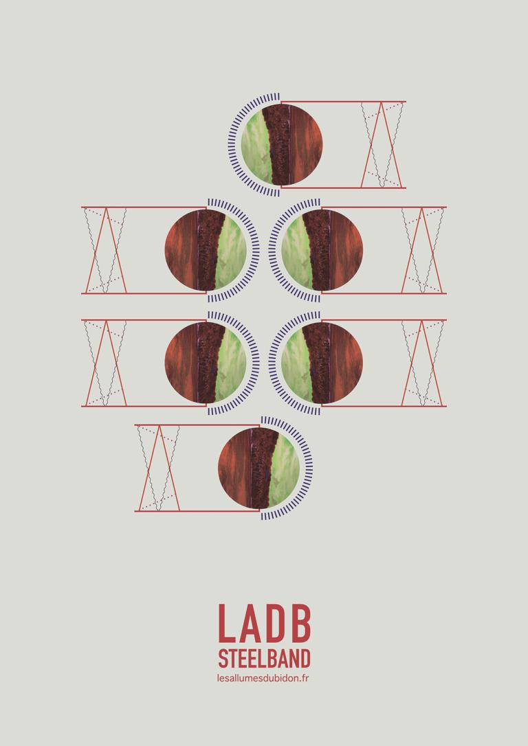 Affiche six basses LADB Steelband