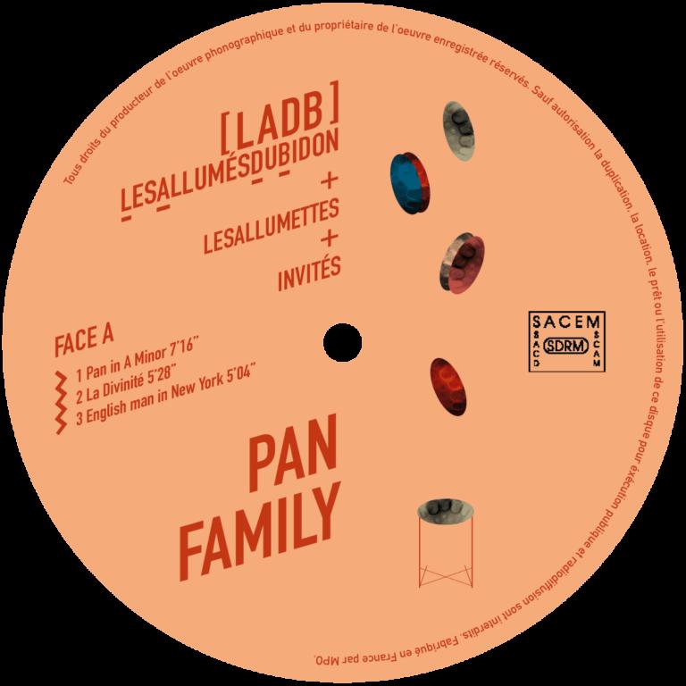 Etiquette album vinyle PAN Family