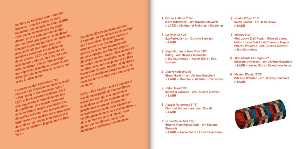 livret album cd LADB Steelband2