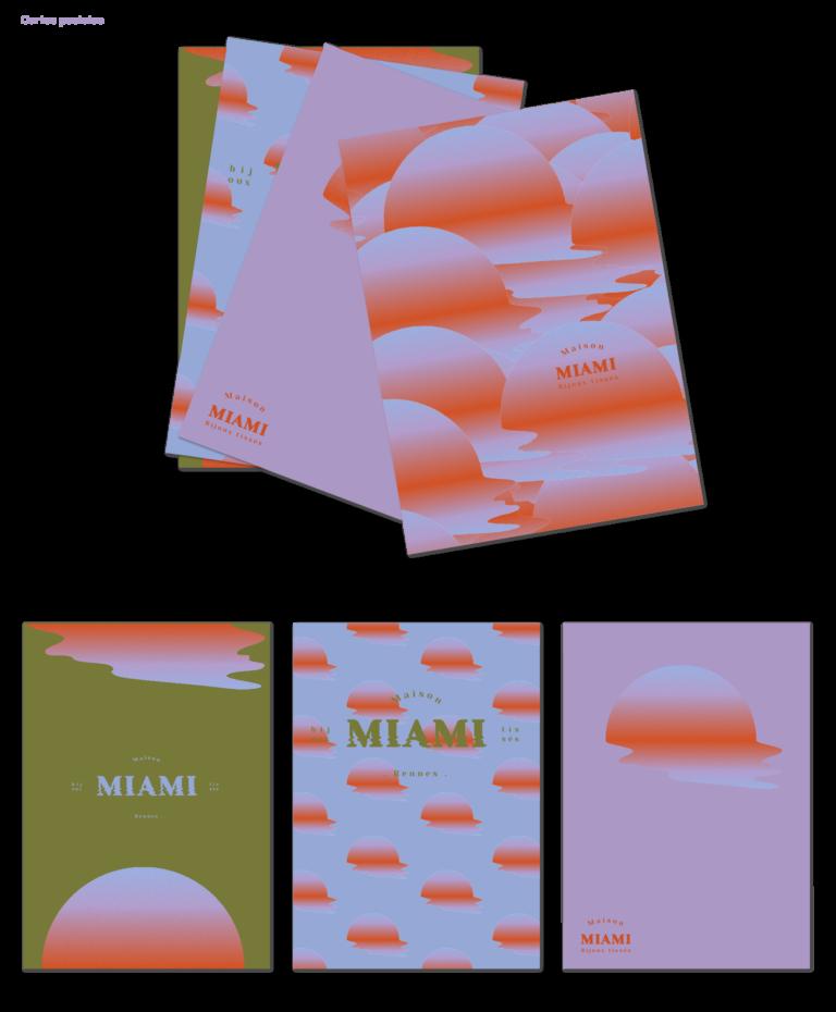 Carte postales Maison Miami
